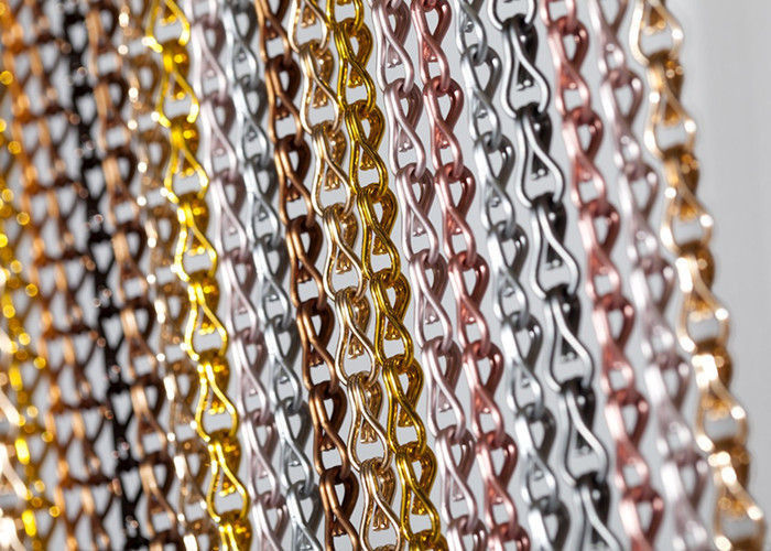 Double Hook Chain Door Fly Screen Chain Link Mesh Curtains 90*210cm 100*200cm