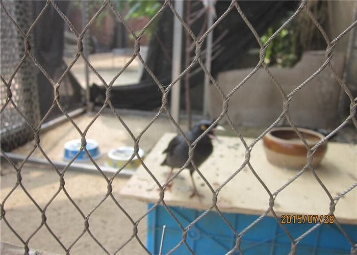 Ferruled Aviary Wire Stainless Steel Bird Mesh Netting For Visitor Protection
